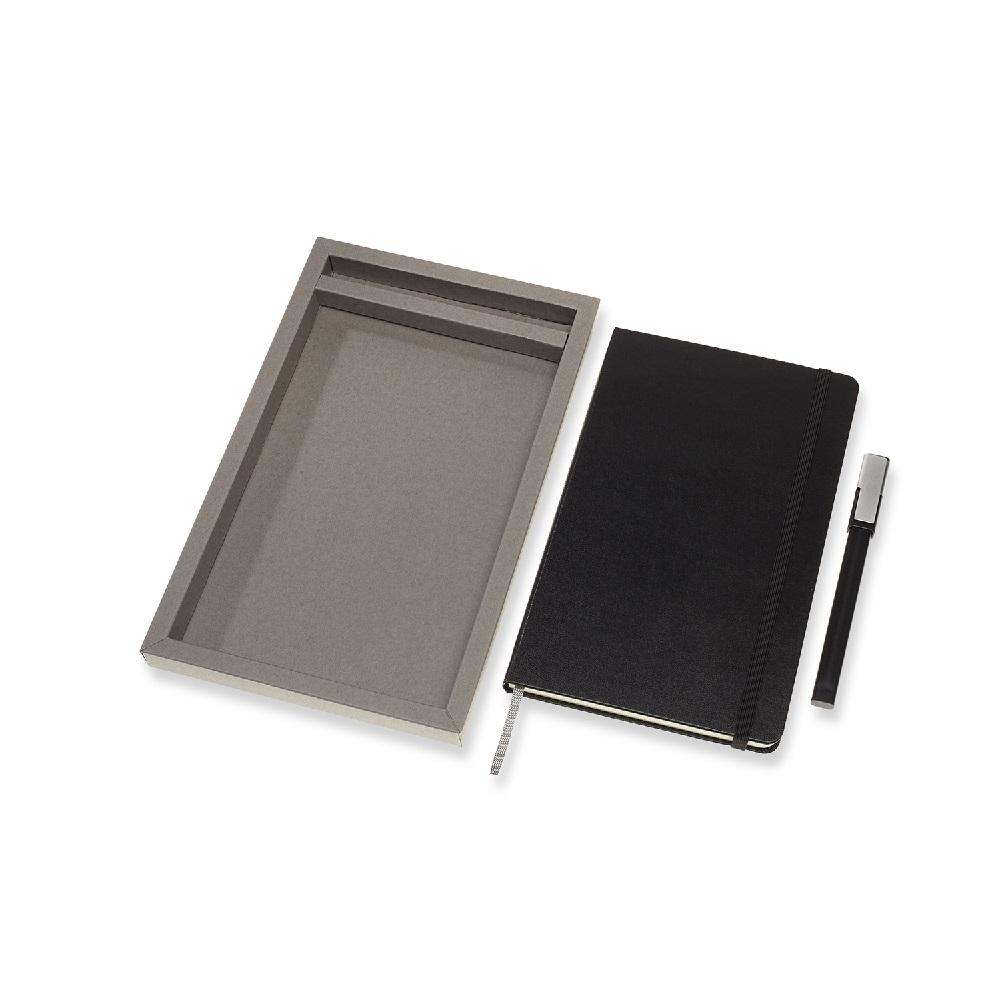 MOLESKINE 經典硬殼筆記本&鋼珠筆禮盒 (黑/紅)