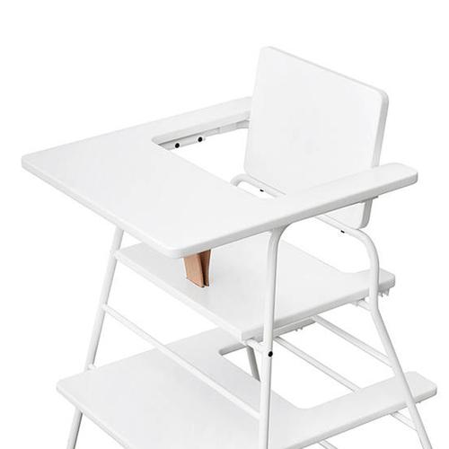 BudtzBendix|TOWER chair 嬰兒高腳椅(白/褐)