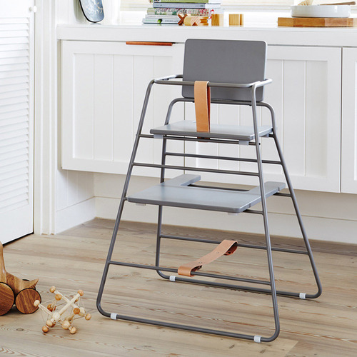 BudtzBendix|TOWER chair 嬰兒高腳椅(灰/褐)