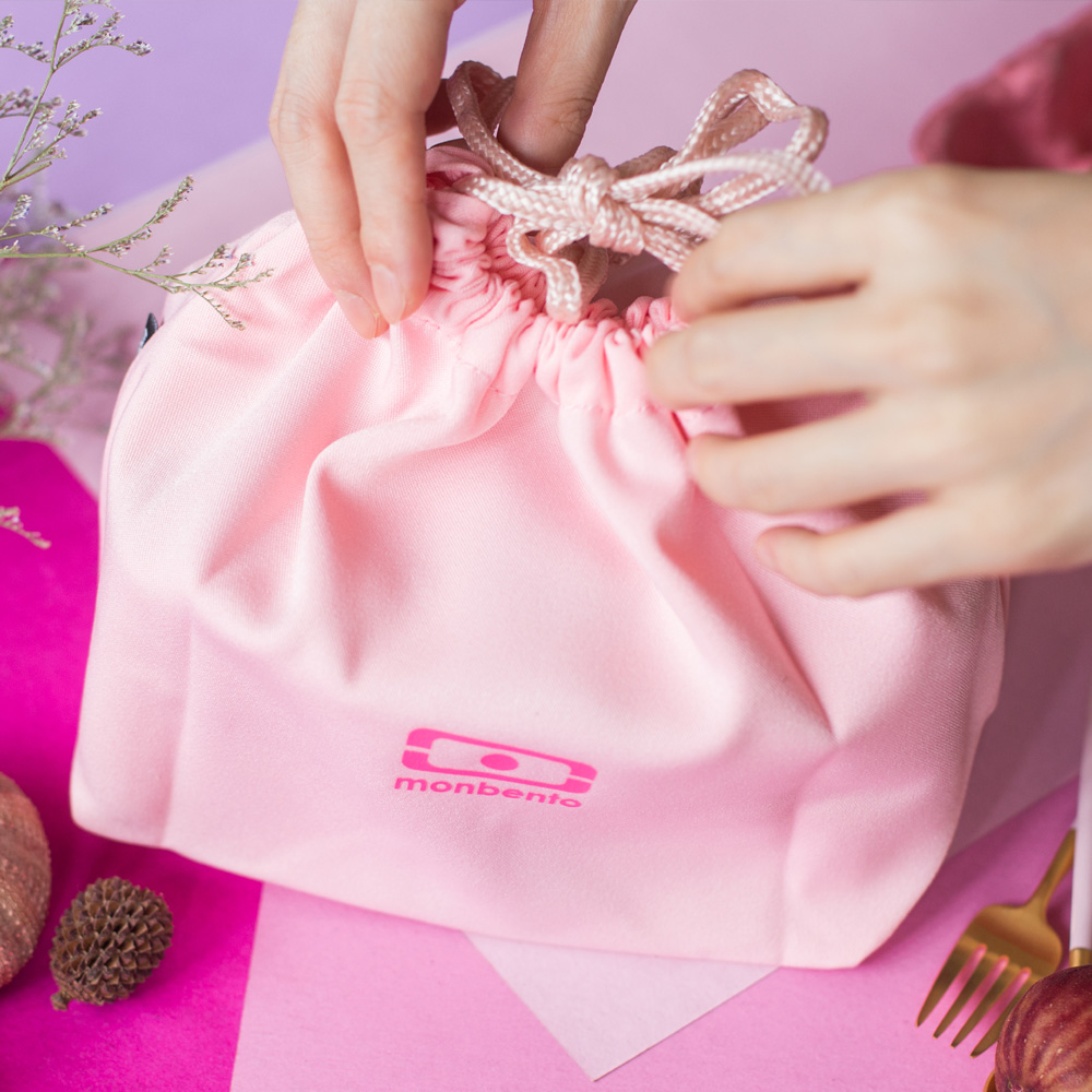 MONBENTO 餐布袋 (荔枝色)