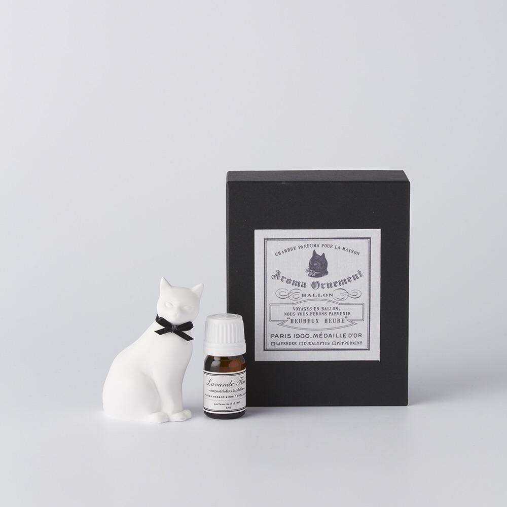 Ballon 貓貓造型香氛石(黑)