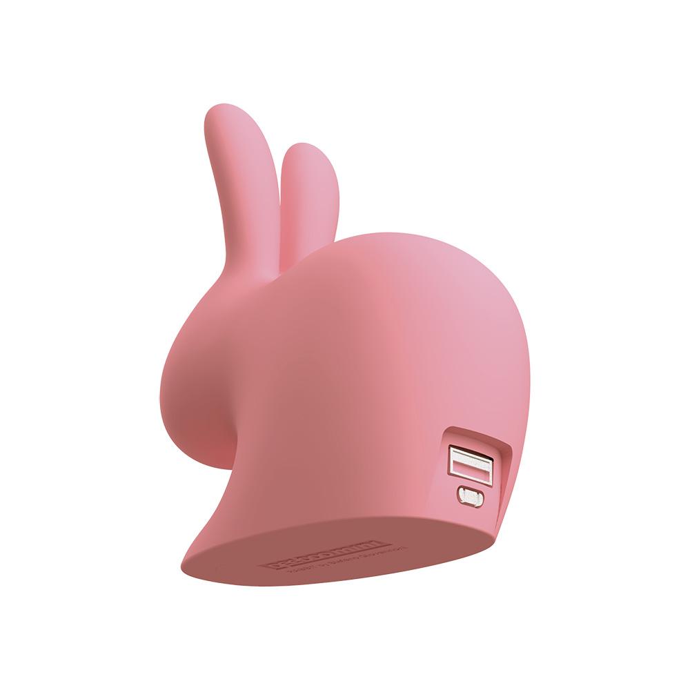 Qeeboo 迷你兔子行動電源(粉色)