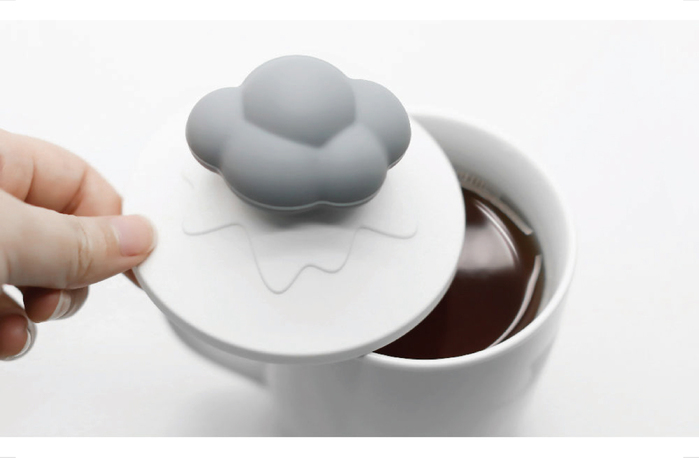 TOYOYO|雲朵造型感溫杯罩 - 灰雲