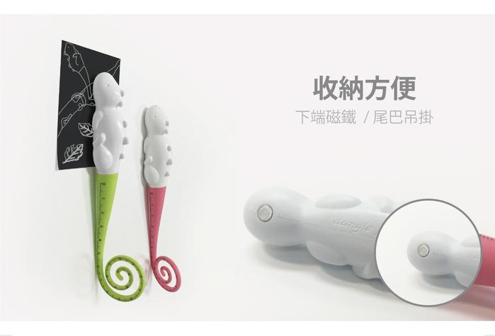 (複製)TOYOYO|變色龍攜帶式短尺造型原子筆 - 水藍
