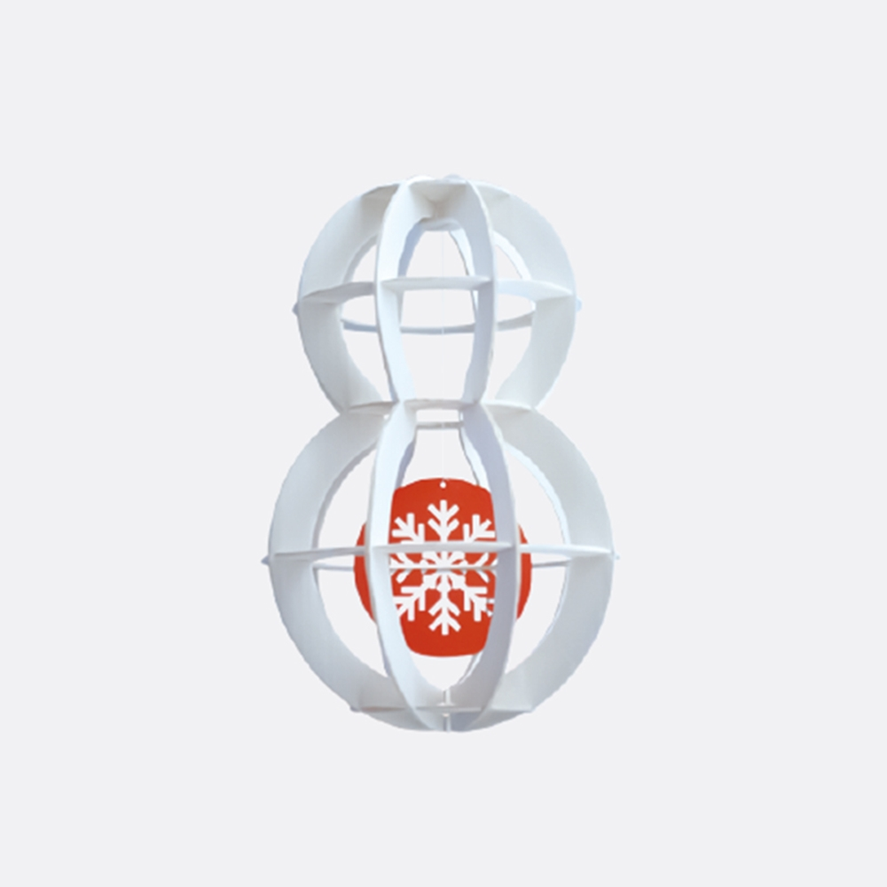 韓國 TUNAPAPER 3D 紙雕掛飾 SNOWMAN