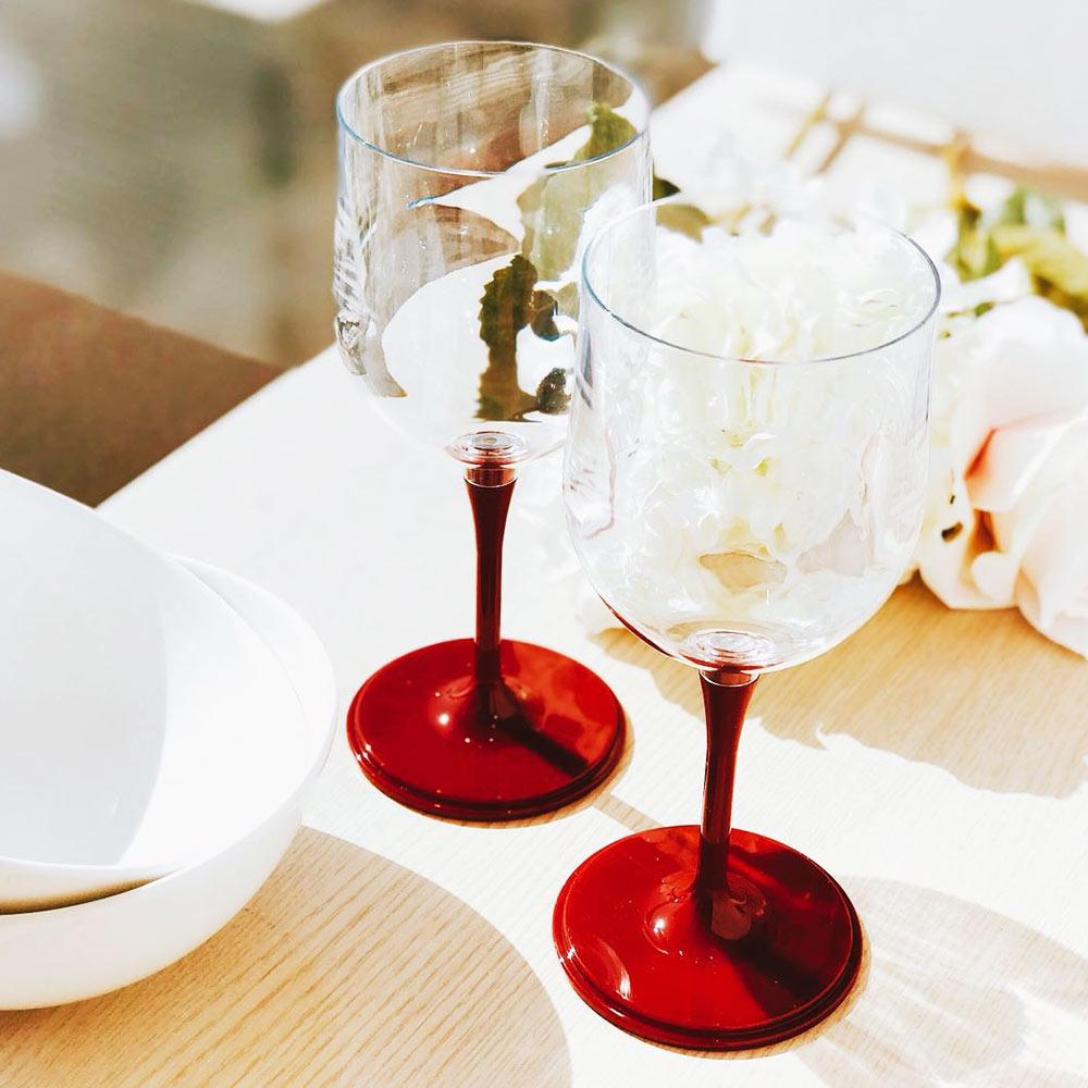 JoyRuby|BOSO 攜帶式摺疊紅酒杯(附硬殼)-紅