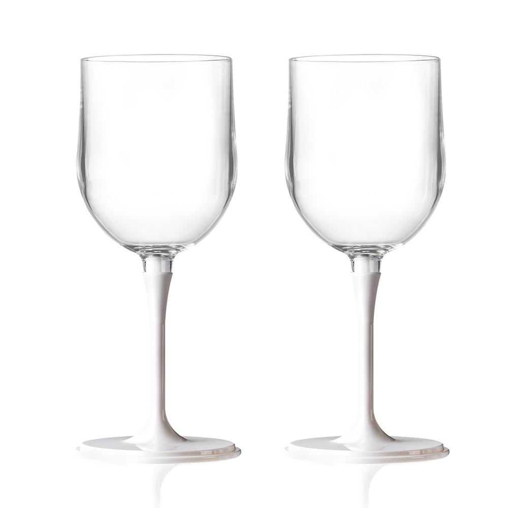 JoyRuby BOSO 攜帶式摺疊紅酒杯(附收納袋)-白x2