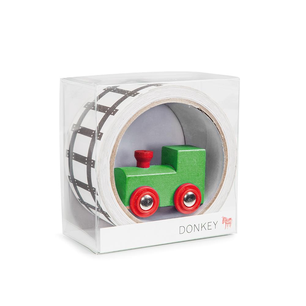 德國 Donkey 兒童趣味鐵路紙膠帶- 小火車