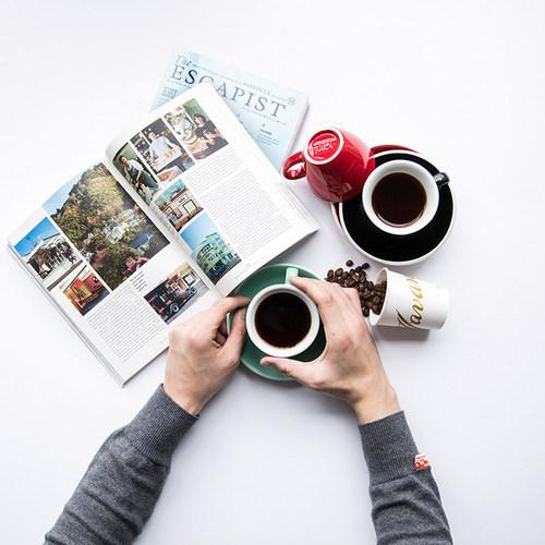 紐西蘭Acme & Co.|圓弧形拿鐵咖啡杯組 - 280ml 藍