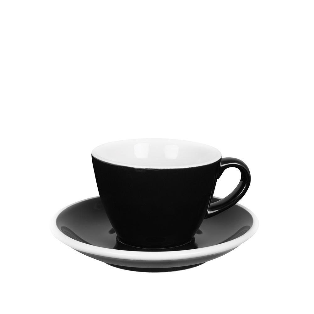 紐西蘭Acme & Co.|圓弧形小白咖啡杯組 - 150ml 黑