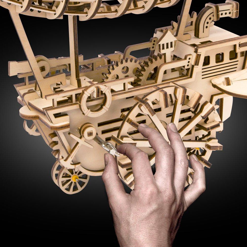 ROBOTIME DIY木製自走模型-飛船Air Vehicle