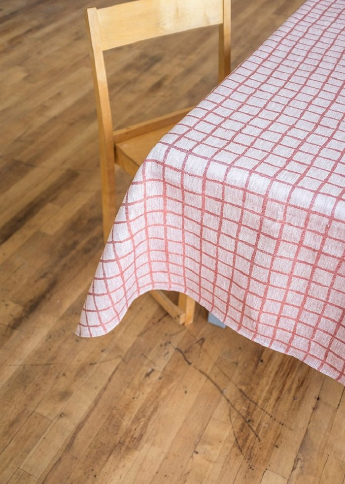北歐風設計師款 – 格子桌巾, 紅色 (147X250cm) Rutig Tablecloth, Red