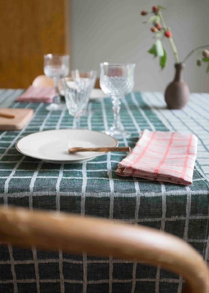 (複製)Fine Little Day|北歐風設計師款 – 冷杉桌巾(147X147cm) Gran Tablecloth, Black