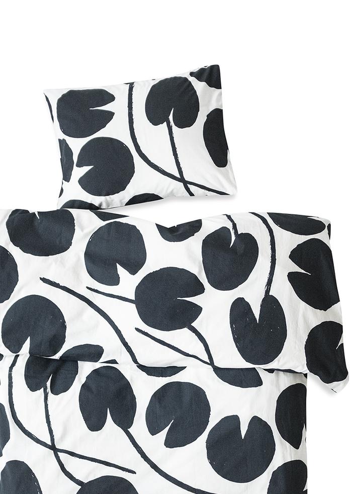 (複製)Fine Little Day  有機棉被套枕套兩件組 – WATER LILIES BED SET, GREY