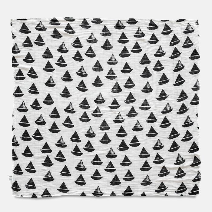 (複製)Fine Little Day|有機棉紗布包巾(森林小熊 – 淺藍綠) – BJÖRN MUSLIN BLANKET