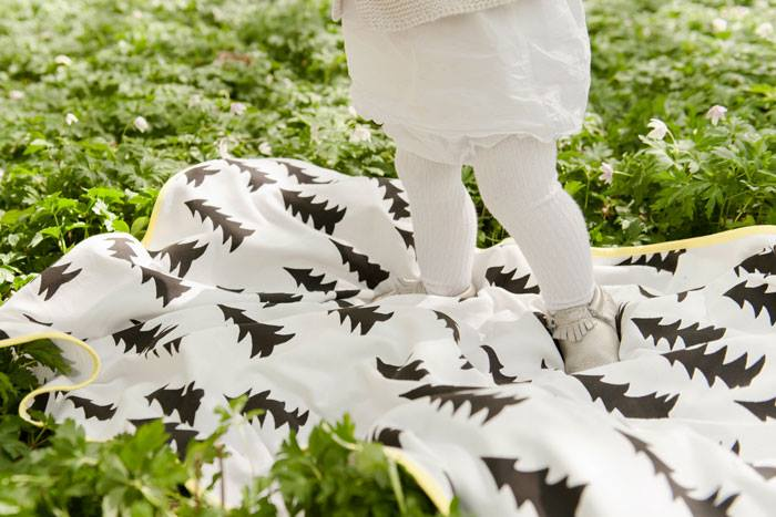 (複製)Fine Little Day| 森林有機棉提花刷毛毯(黑白)–GRAN WOVEN CHILD BLANKET(Black&white)