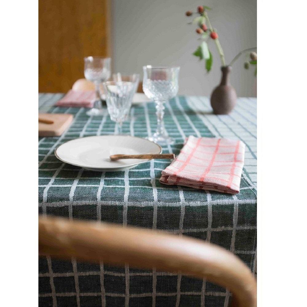Fine Little Day|北歐風設計師款 – 格子桌旗, 墨綠 Rutig Table Runner, Green