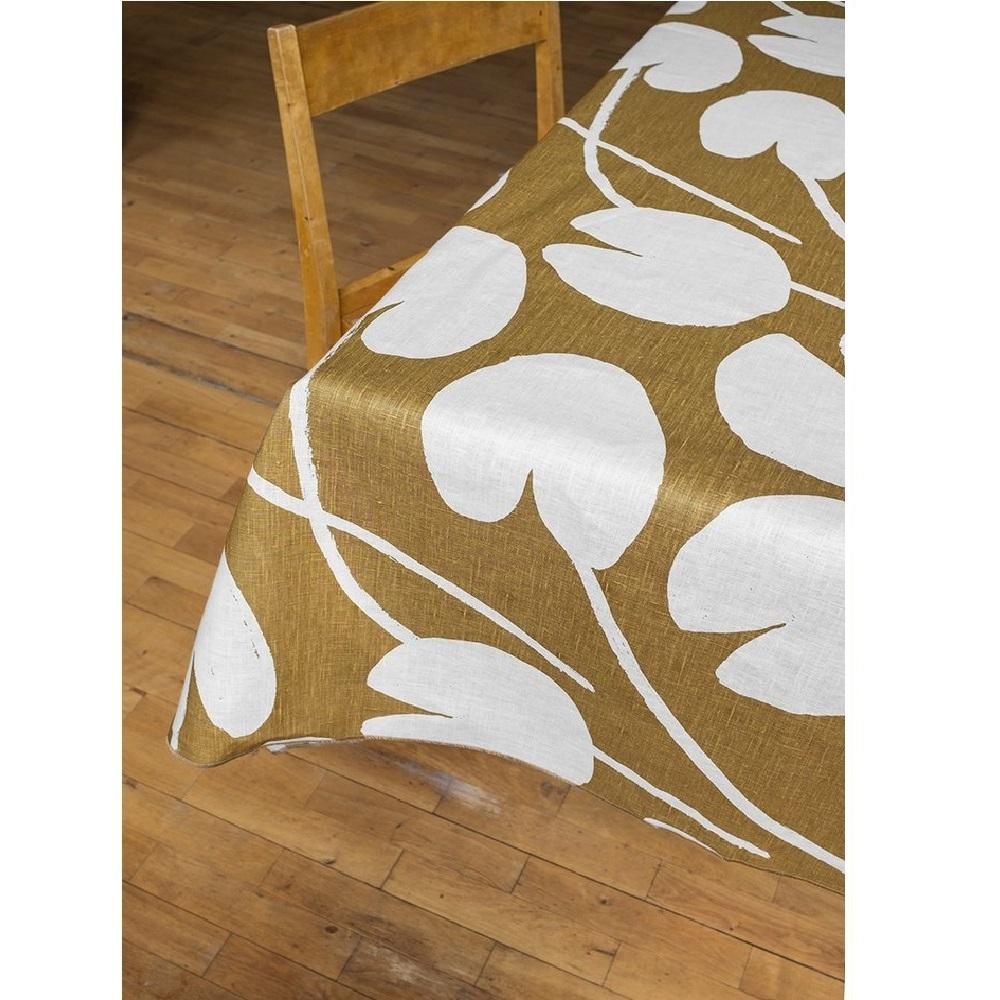 Fine Little Day 北歐風設計師款 – 荷花桌巾, 芥末黃 (147X250cm) Water lilies Tablecloth, Mustard