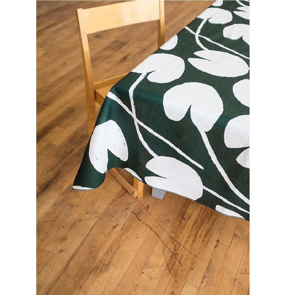Fine Little Day|北歐風設計師款 – 荷花桌巾, 深綠 (147X147cm) Water lilies Tablecloth, Green