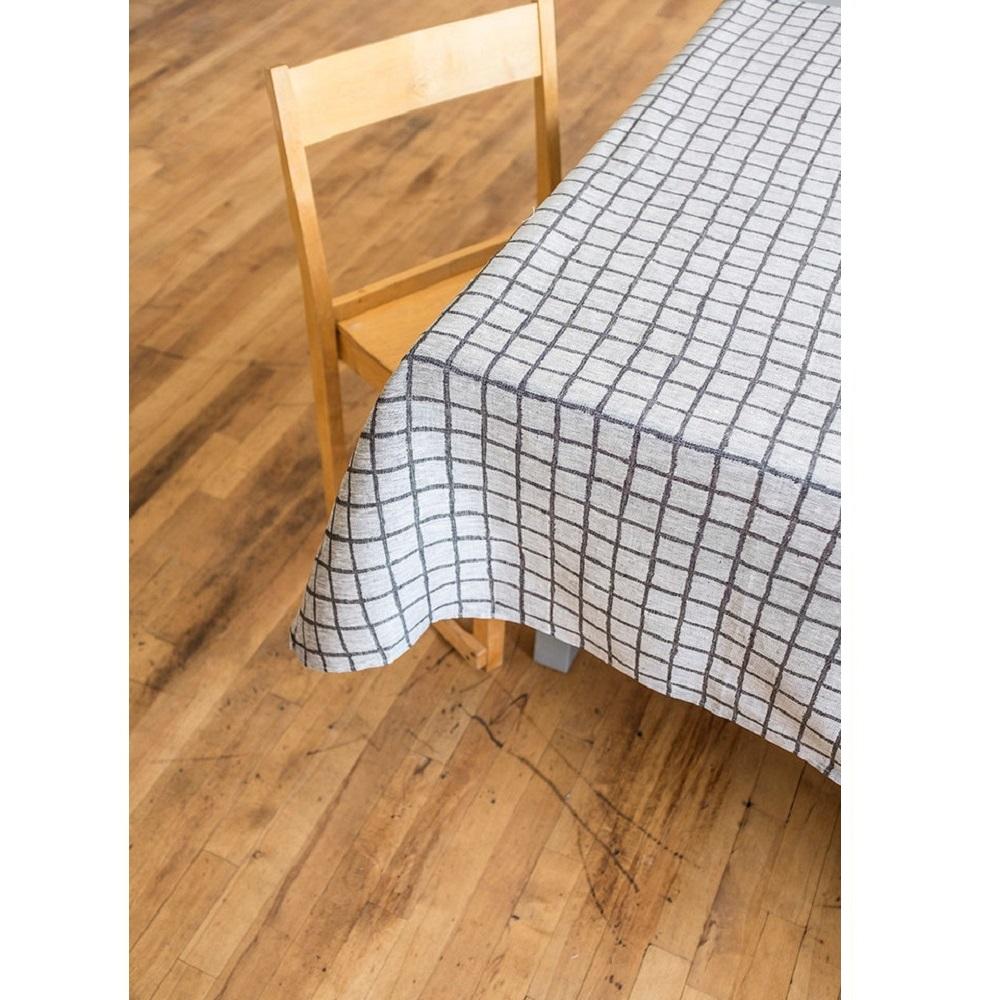 Fine Little Day|北歐風設計師款 – 格子桌巾, 黑 (147X147cm) Rutig Tablecloth, Black