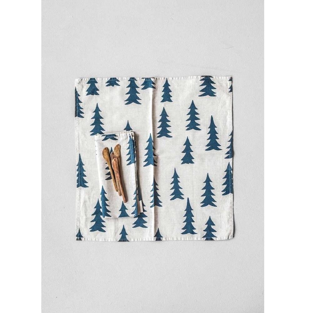 Fine Little Day|北歐風設計師款–冷杉餐巾二入組(午夜藍)Gran Napkins 2-pack,Nature/Midnight Blue