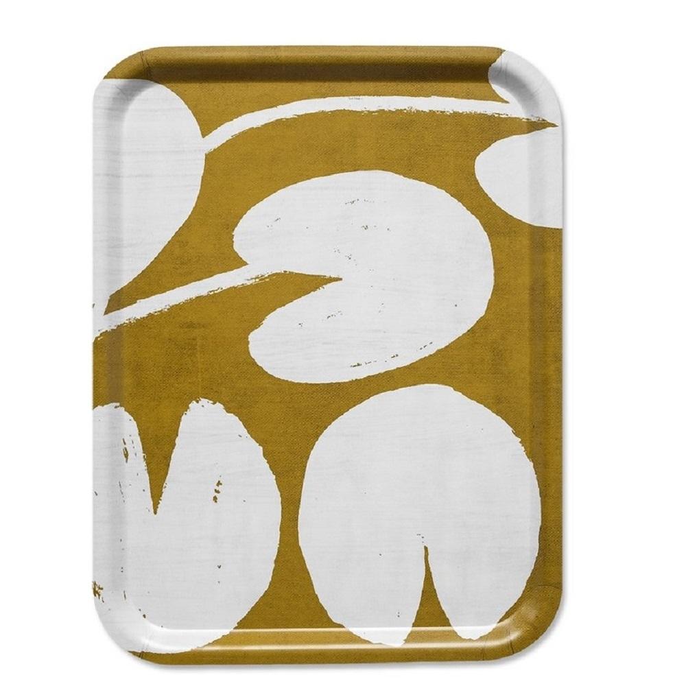 Fine Little Day|方型托盤-WATER LILIES TRAY, MUSTARD (43 X 33 cm)