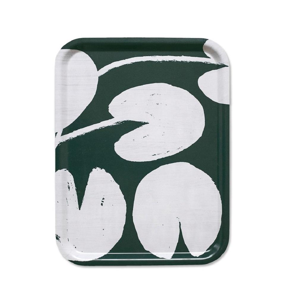 Fine Little Day|方型托盤-WATER LILIES TRAY, PETROL (43 X 33 cm)