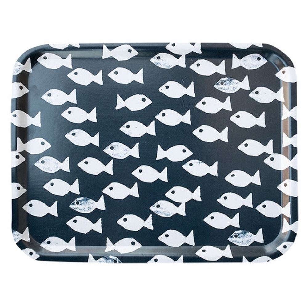 Fine Little Day|方型托盤-FISH TRAY, DARK BLUE (43 X 33cm)