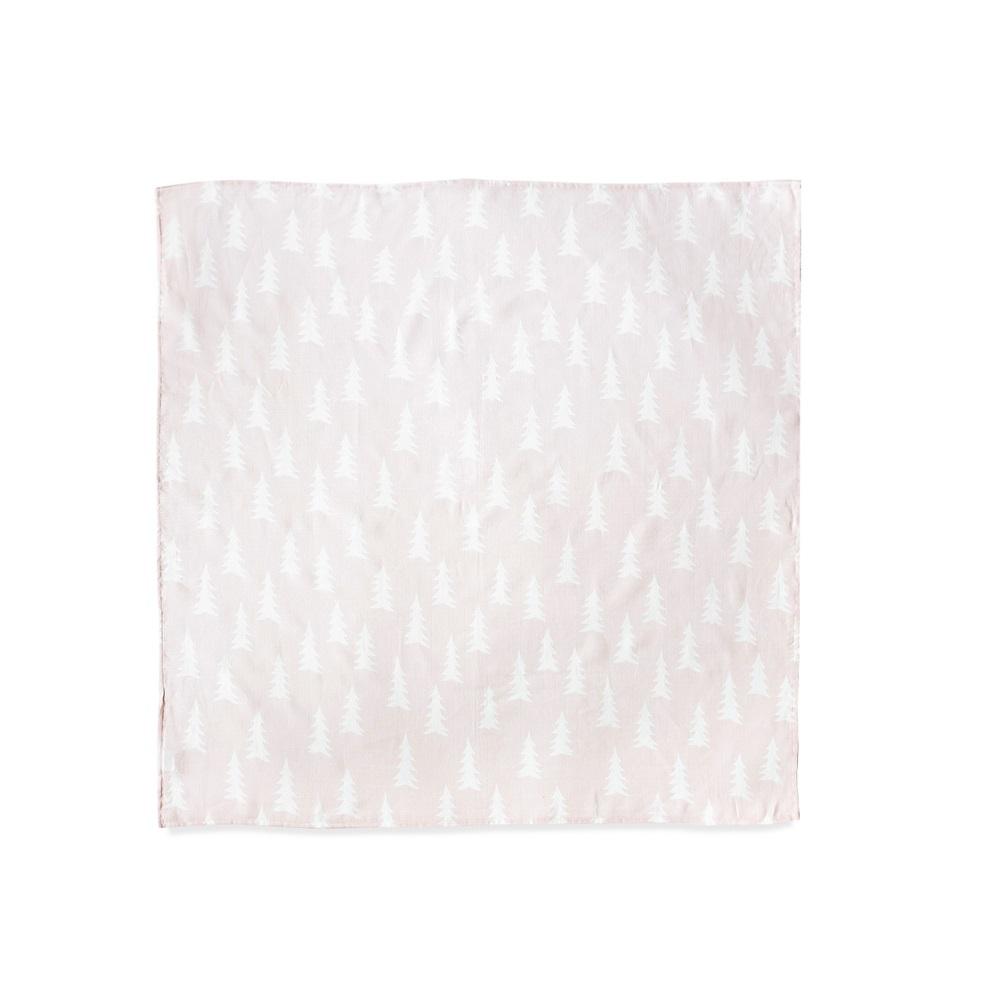 Fine Little Day|有機棉紗布包巾(森林 – 淡粉紅) – GRAN MUSLIN BLANKET – Powder