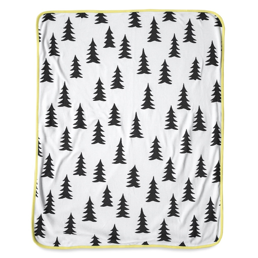 Fine Little Day|  森林有機棉毯 (黃邊) – GRAN ECO CHILD BLANKET (yellow edge)
