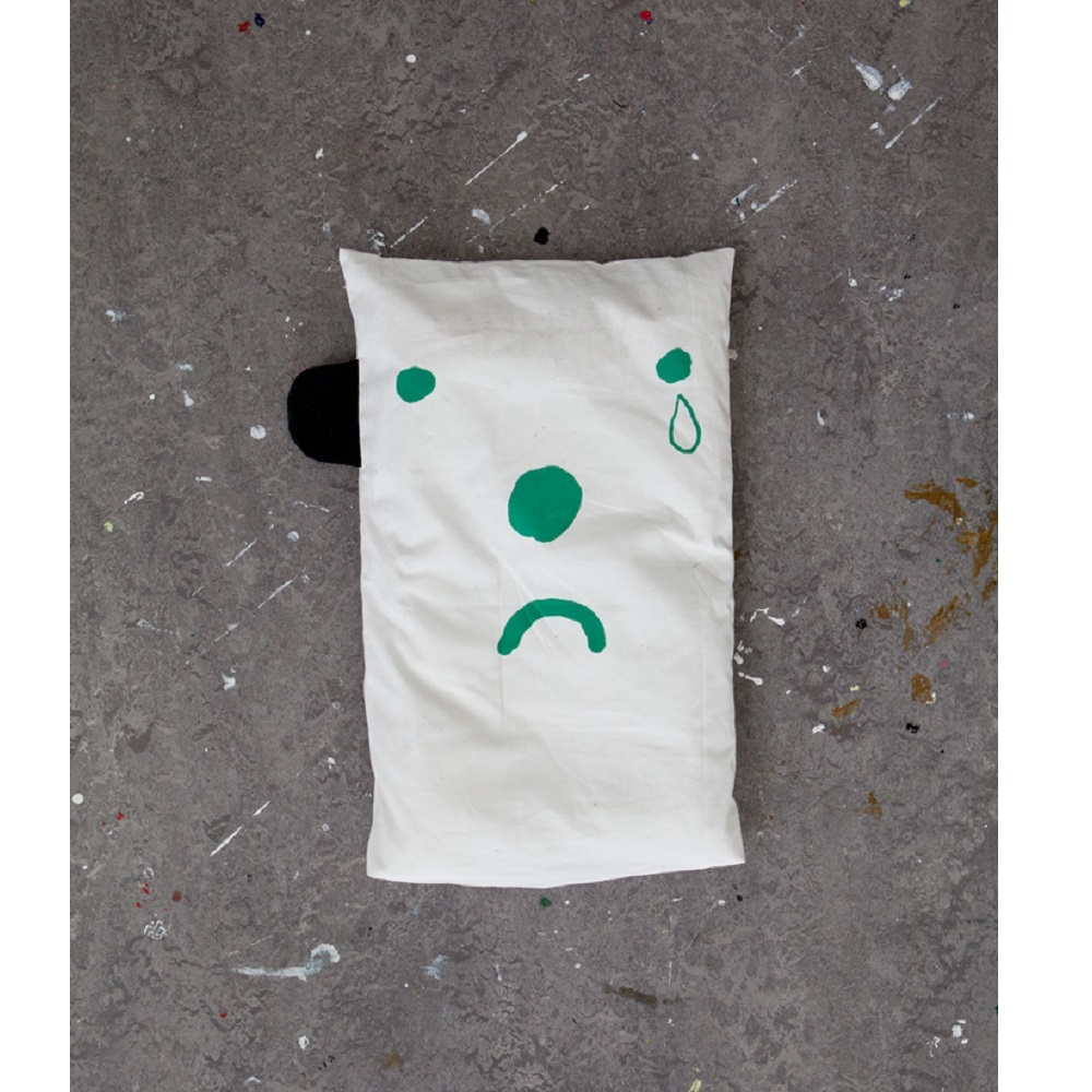 Fine Little Day|表情枕頭套 (綠) – Happy/Sad pillow case (Green)