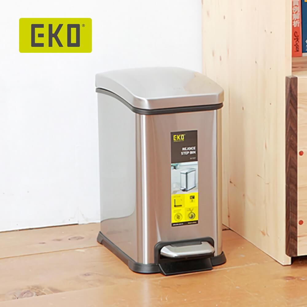 EKO|樂活靜音垃圾桶 8L