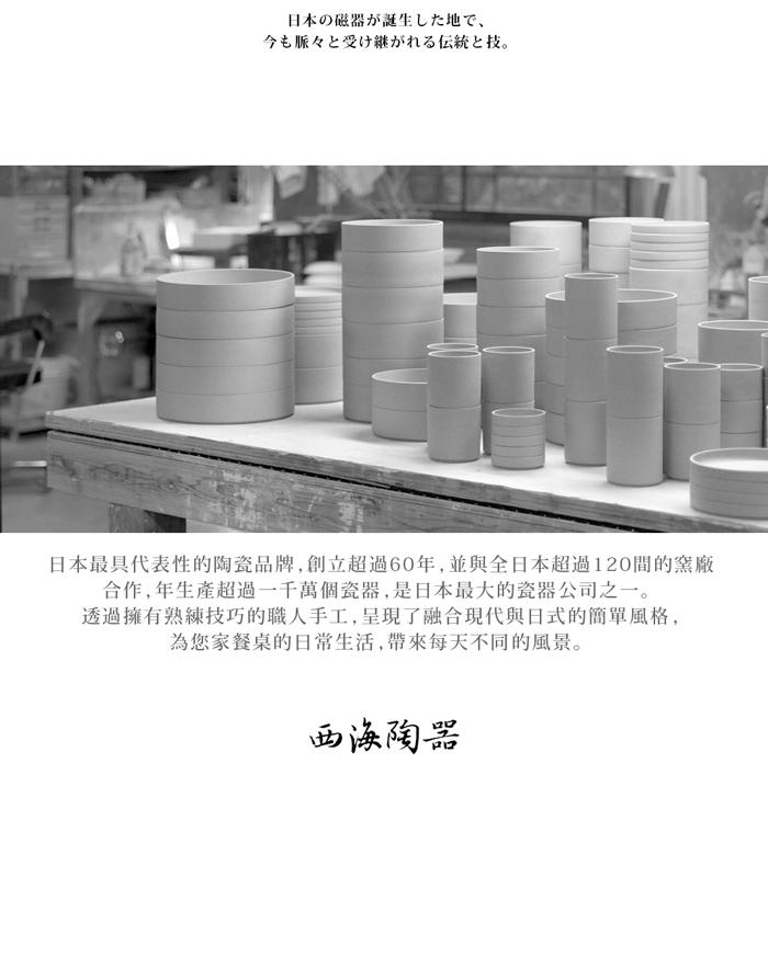 西海陶器 日本美濃燒 輕量雅菊五件式中圓盤組