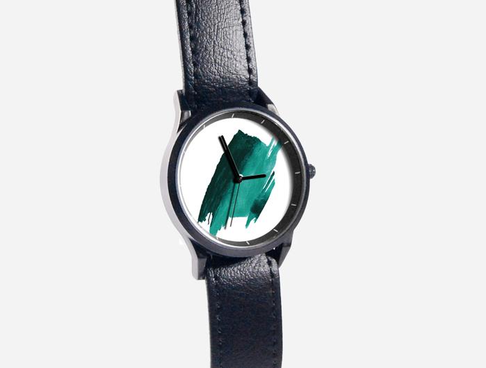 (複製)WenTi 插畫X手錶─時間印記(簡單綠)