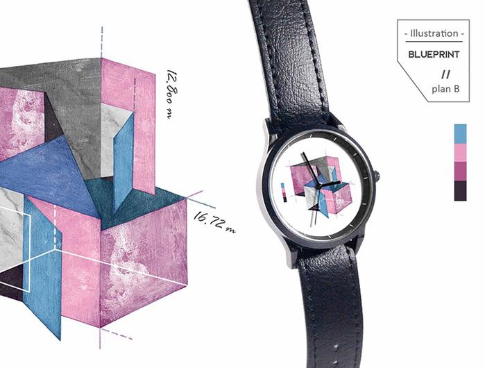 (複製)WenTi|插畫X手錶─Blueprint(plan A)