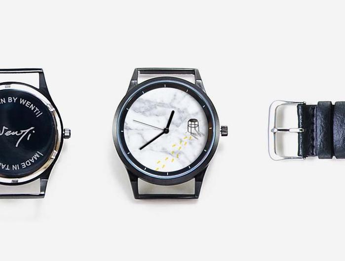 WenTi 插畫X手錶─休閒時光對錶(3pm/9pm)