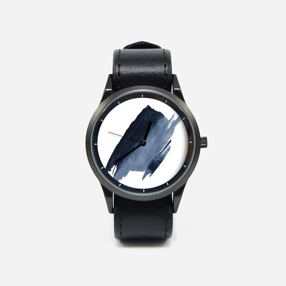 WenTi 插畫X手錶─時間印記(簡單藍)