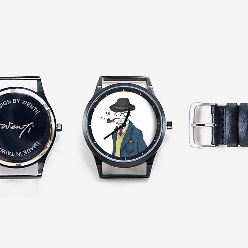 WenTi 插畫X手錶─Ladies & Gentlemen(紳士款)