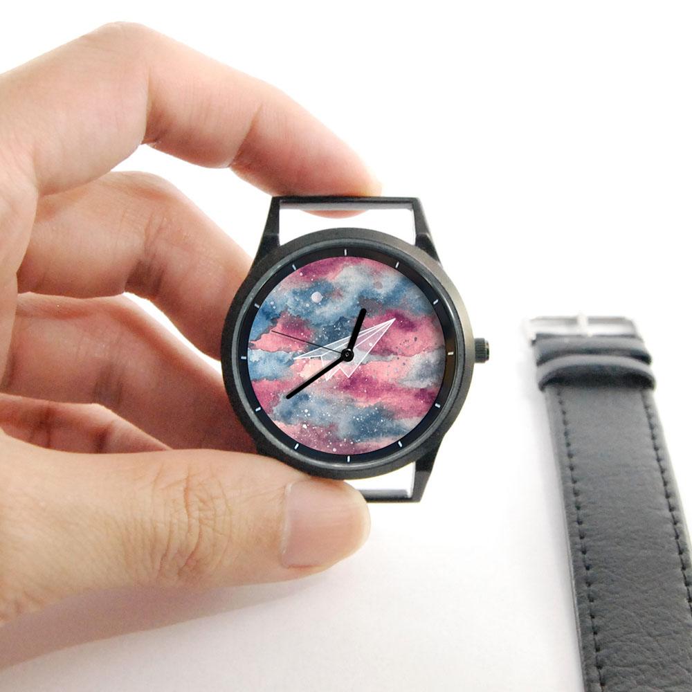 WenTi 插畫X手錶─摺紙系列(紙飛機)