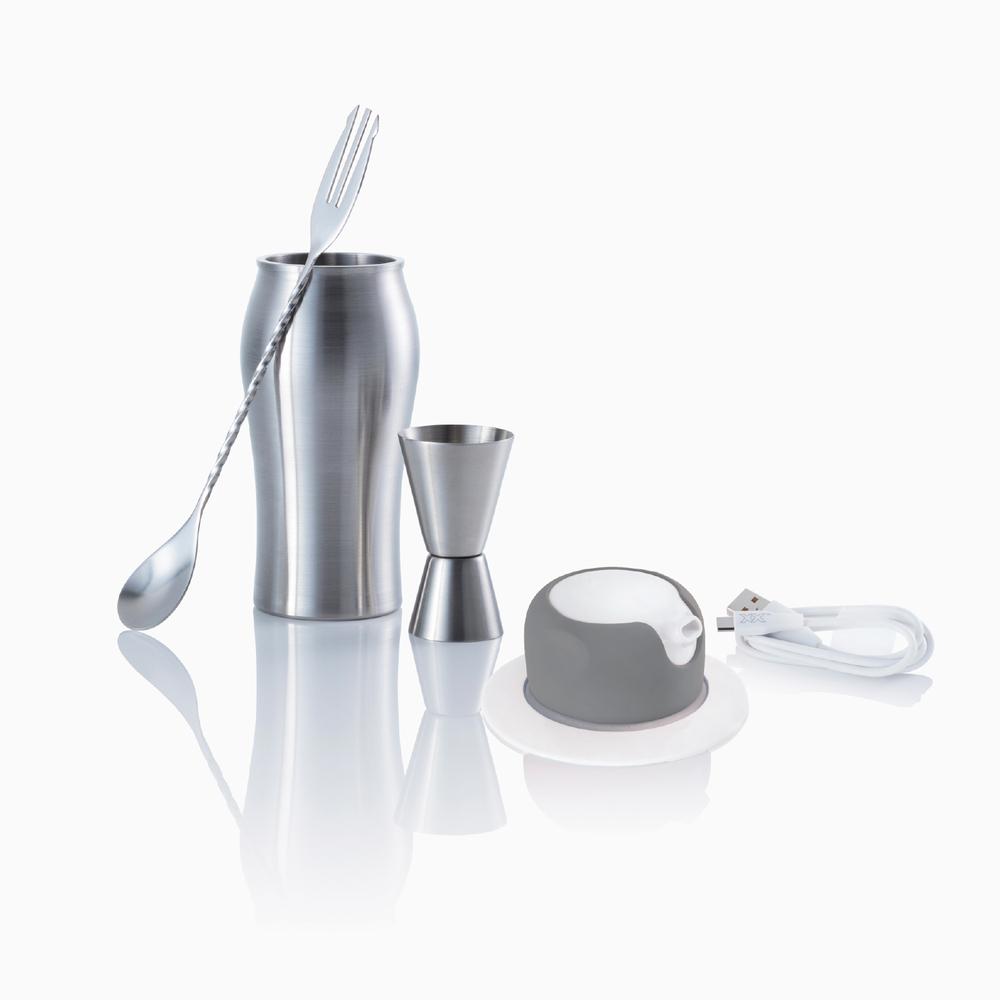 foampresso 攜帶式飲料泡沫器 (沁涼酷灰)