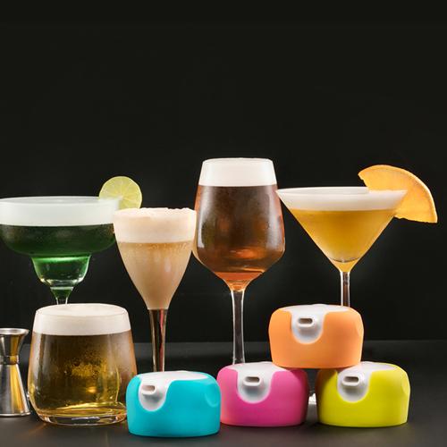 foampresso 攜帶式飲料泡沫器 (橙石橘)