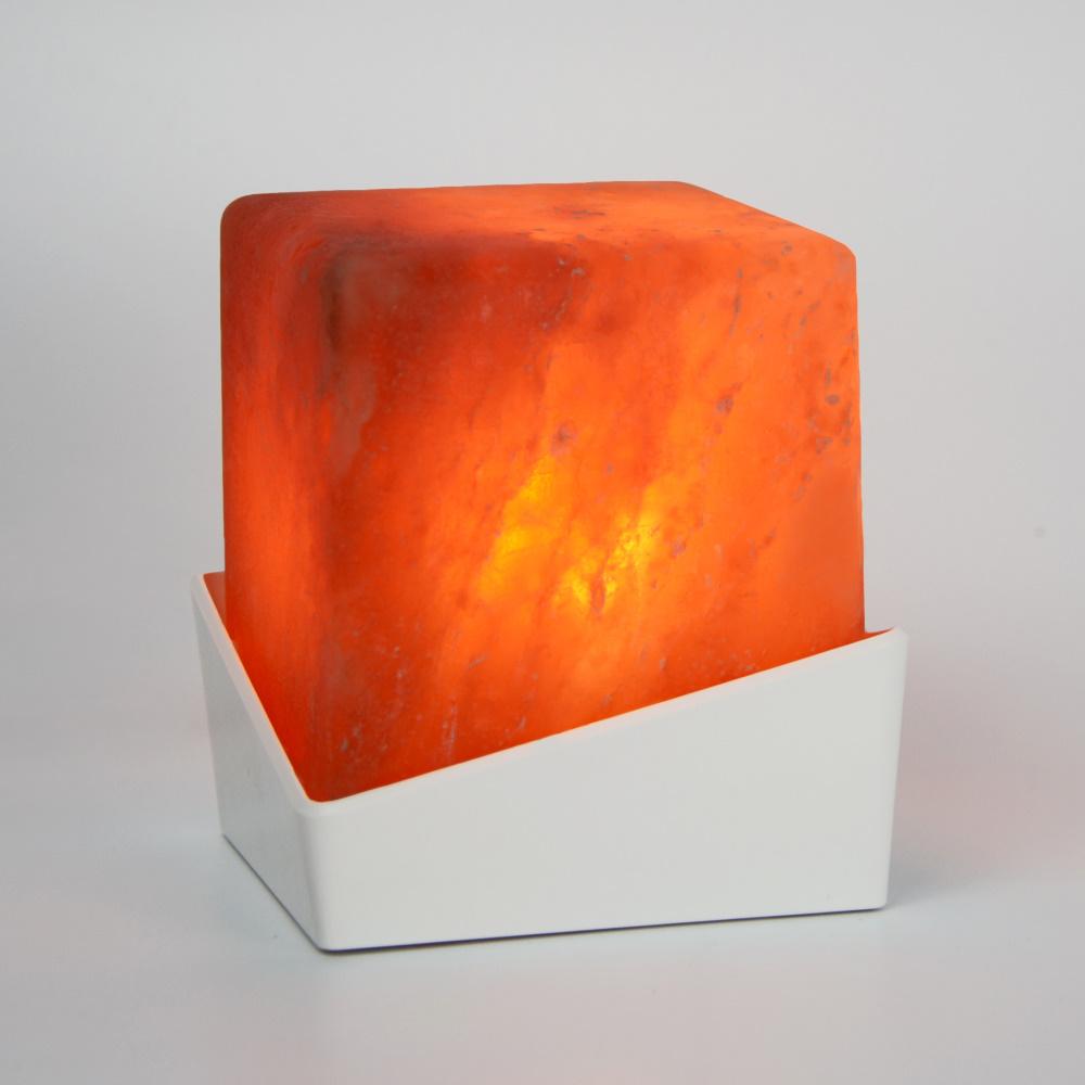 Ambion | 立方體LED玫瑰鹽晶燈 (Nuptse/白)