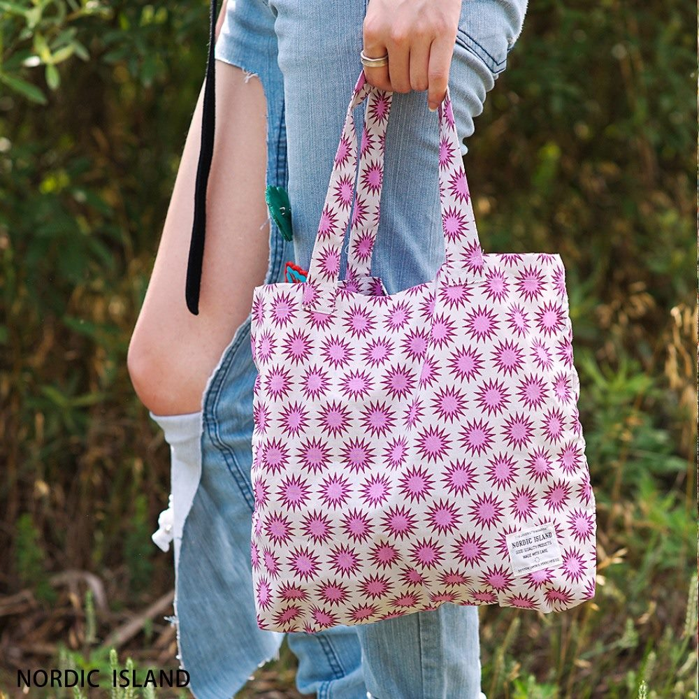 NORDIC ISLAND   帆布購物袋-Twinkle閃爍 (粉紫)
