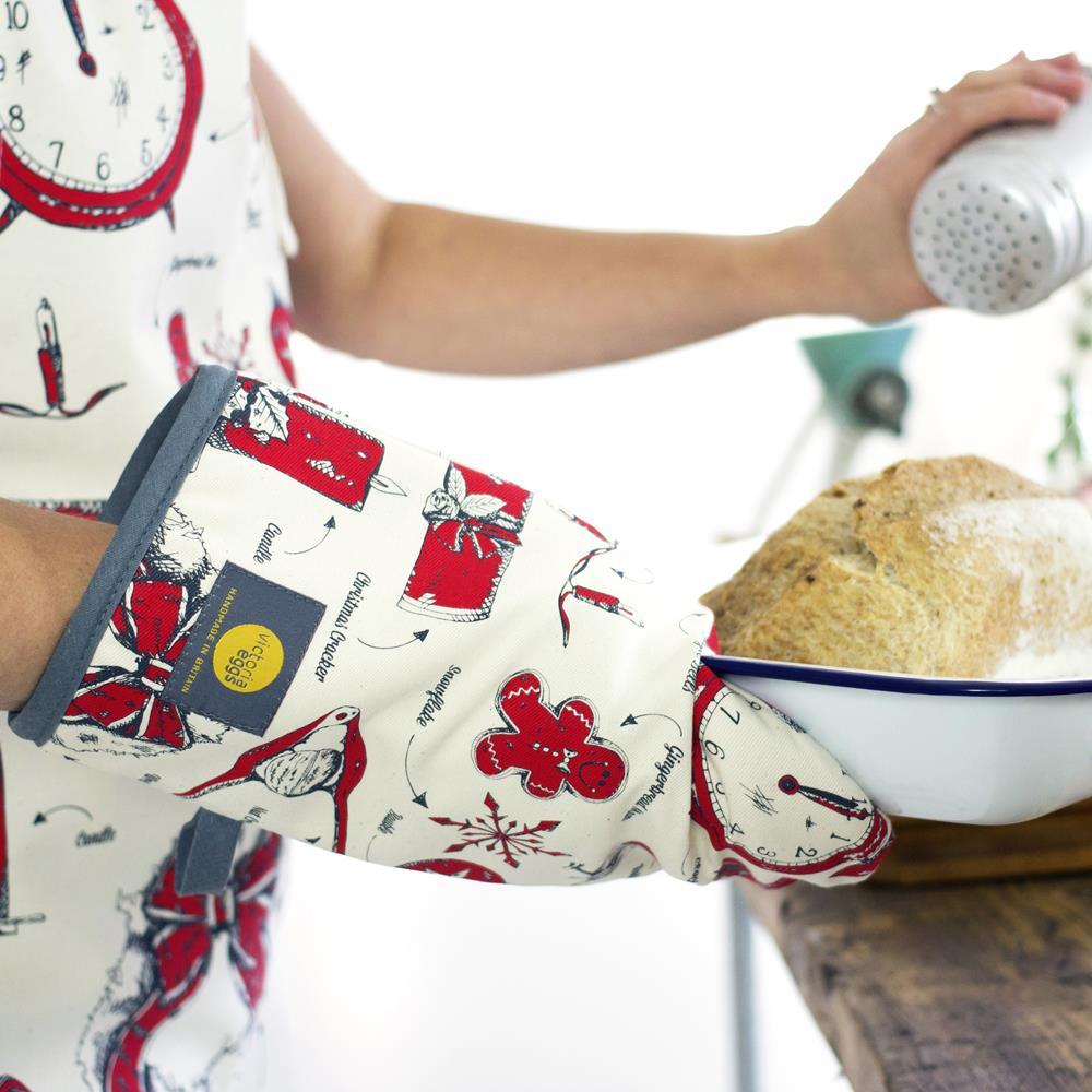 英國蛋 Victoria Eggs|有機棉烤箱手套 聖誕狂歡