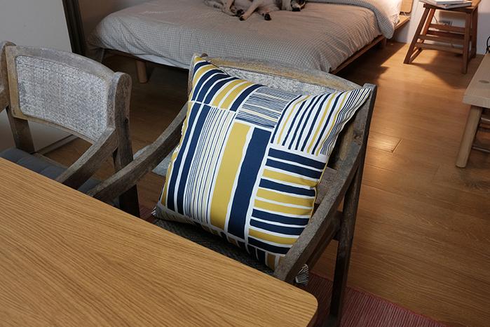 (複製)減簡手制JainJain|枕頭套/鐵皮屋 咖藍