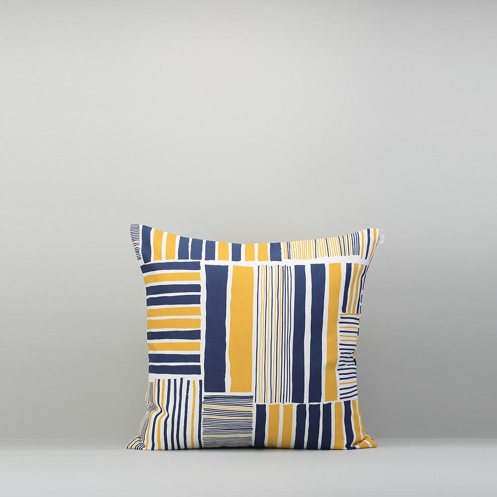 減簡手制JainJain|枕頭套/鐵皮屋 黃藍
