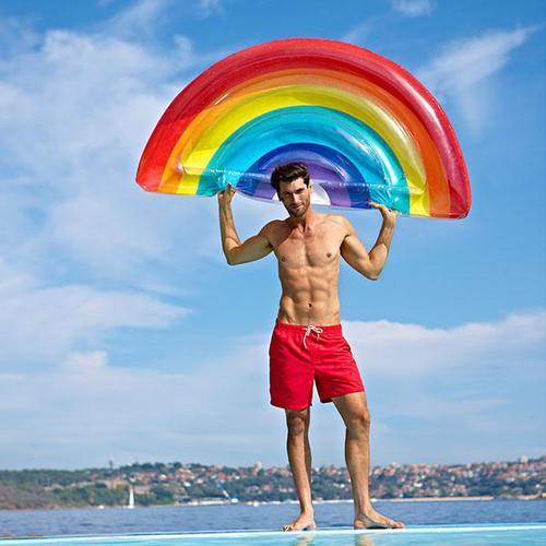 SHARKTANK-SUNNYLIFE| Rainbow Luxe Lie On Float 彩虹造型豪華浮板