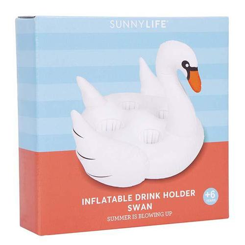 SHARKTANK-SUNNYLIFE|Swan Inflatable Drink Holder 天鵝造型充氣飲料架