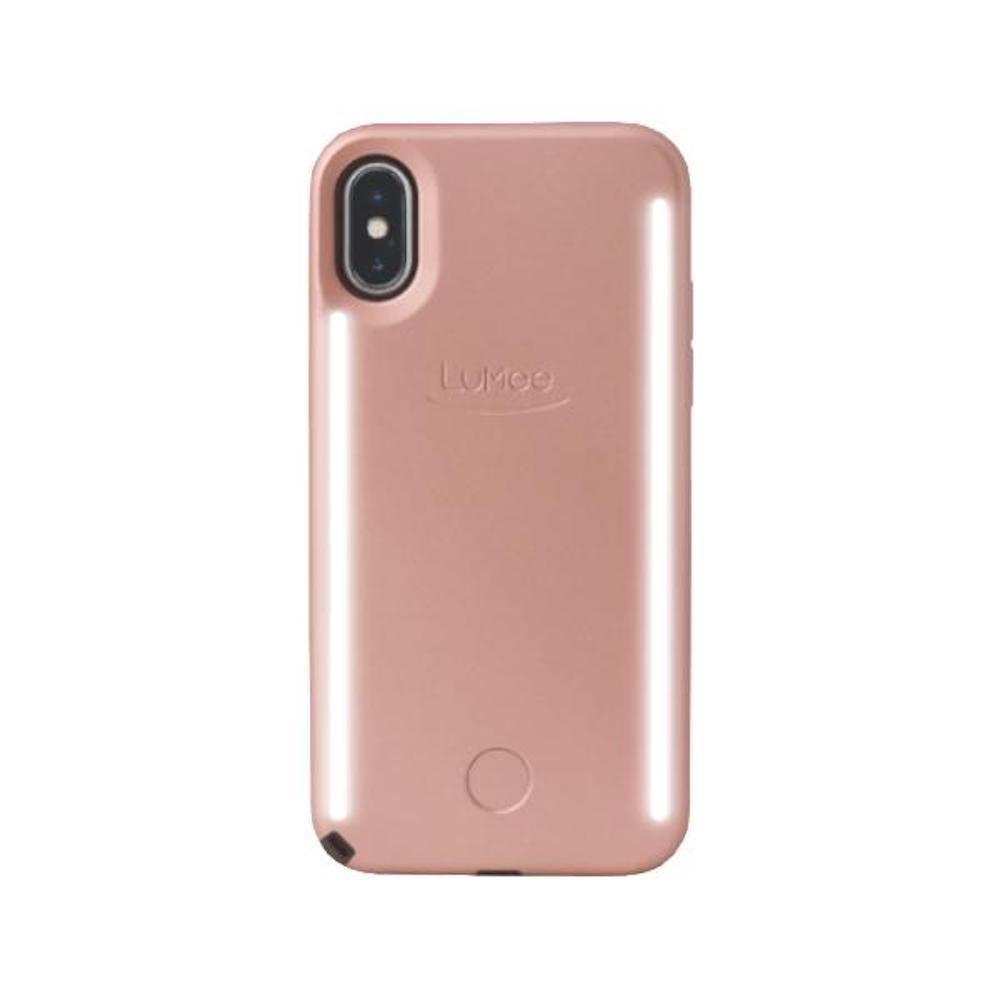 LUMEE Duo 雙面 LED 補光手機殼 iPhone X (玫瑰金)