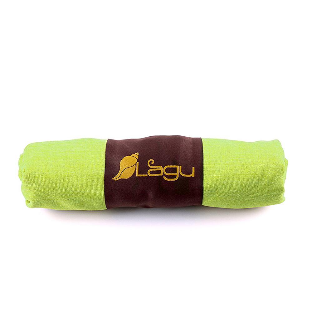 LAGU|沙灘專用快乾防沙毯 (黃綠)